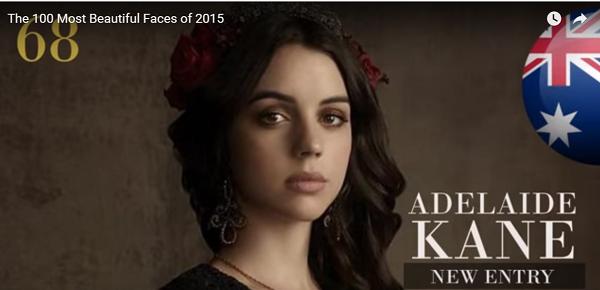 世界で最も美しい顔68位アデレード・ケインadelaide kane│The 100 Most Beautiful Faces of 2015