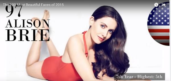 世界で最も美しい顔97位アリソンブリー│The 100 Most Beautiful Faces of 2015