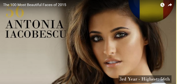 世界で最も美しい顔56位Antonia Iacobescu│The 100 Most Beautiful Faces of 2015