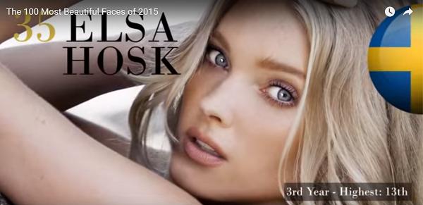 世界で最も美しい顔35位エルザ・ホスク│The 100 Most Beautiful Faces of 2015