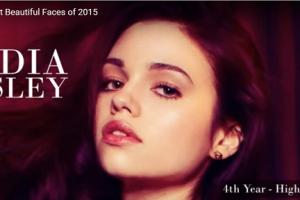 世界で最も美しい顔60位インディア・アイズリーindia elsley│The 100 Most Beautiful Faces of 2015