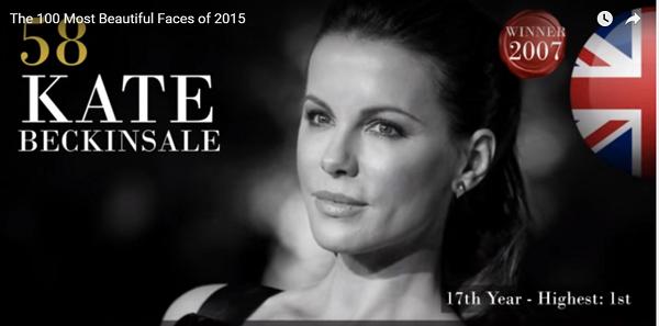 世界で最も美しい顔58位ケイト・ベッキンセイルkate beckinsale│The 100 Most Beautiful Faces of 2015