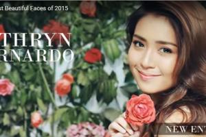 世界で最も美しい顔80位Kathryn Bernardo│The 100 Most Beautiful Faces of 2015
