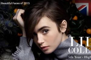世界で最も美しい顔75位リリー・コリンズ│The 100 Most Beautiful Faces of 2015