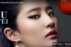 世界で最も美しい顔77位劉亦菲liu yifei│The 100 Most Beautiful Faces of 2015