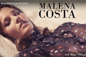 世界で最も美しい顔65位malena costa│The 100 Most Beautiful Faces of 2015