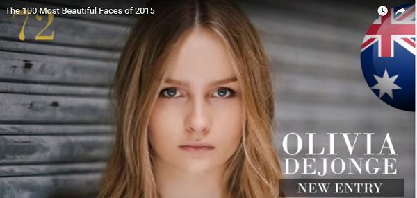 世界で最も美しい顔72位オリビア・デジョンジ│The 100 Most Beautiful Faces of 2015