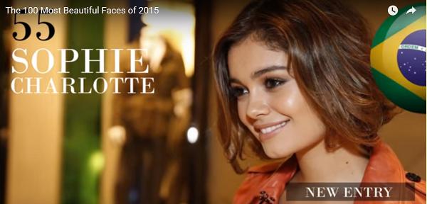 世界で最も美しい顔55位ソフィシャルロッテsophie charlotte│The 100 Most Beautiful Faces of 2015