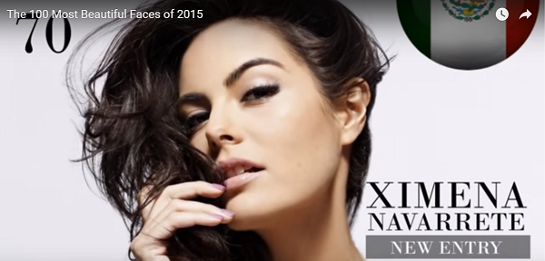 世界で最も美しい顔70位ximena navarrete│The 100 Most Beautiful Faces of 2015