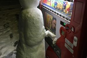 大寒波が来たあとの様子1月24日の鹿児島と謎の雪だるま発見