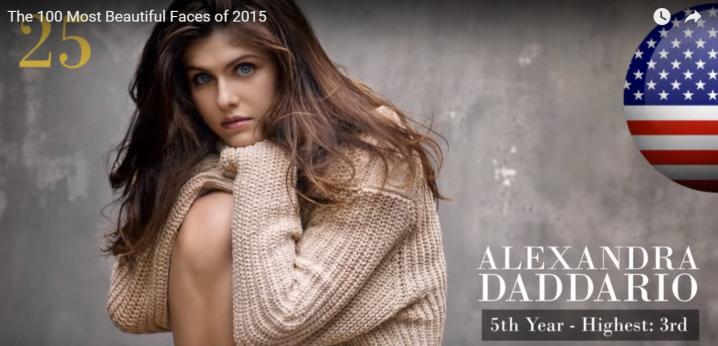 世界で最も美しい顔25位アレクサンドラ・ダダリオ│The 100 Most Beautiful Faces of 2015