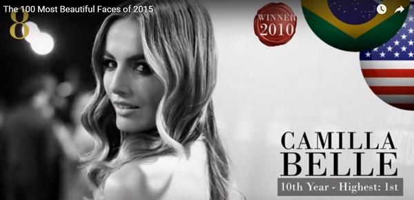世界で最も美しい顔8位カミーラ・ベルcamilla belle│The 100 Most Beautiful Faces of 2015