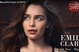 世界で最も美しい顔10位エミリア・クラークemilia clarke│The 100 Most Beautiful Faces of 2015