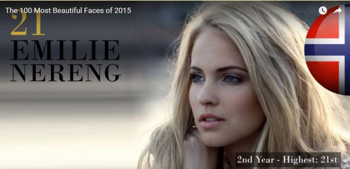 世界で最も美しい顔21位エミリーemilie nereng│The 100 Most Beautiful Faces of 2015