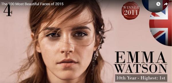 世界で最も美しい顔4位エマワトソンemma watson│The 100 Most Beautiful Faces of 2015