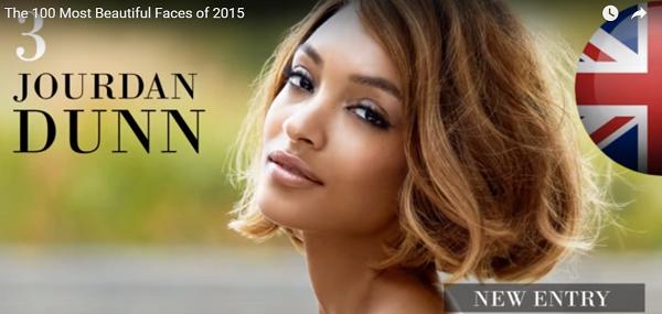 世界で最も美しい顔3位ジャーダン・ダンjourdan dunn│The 100 Most Beautiful Faces of 2015