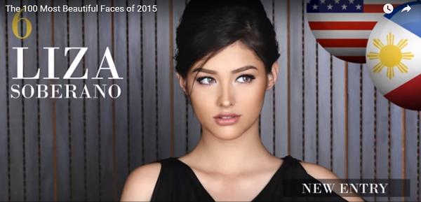 世界で最も美しい顔6位リザ・ソベラーノliza soberano│The 100 Most Beautiful Faces of 2015