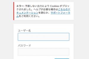 エラー予期しない出力により Cookies がブロックされましたの対処法|上條サロン