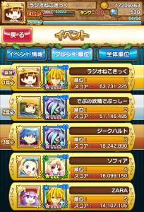 【テトモン】レイドイベント悪忍見参終了!Androidユーザーで結果は全国39位!
