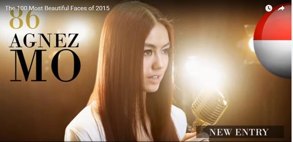 世界で最も美しい顔86位アグネスモニカ│The 100 Most Beautiful Faces of 2015