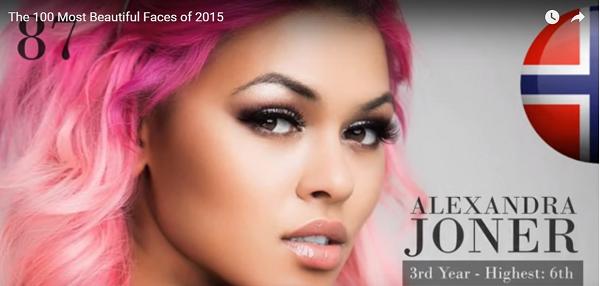 世界で最も美しい顔87位アレクサンドラ・ジョナー│The 100 Most Beautiful Faces of 2015