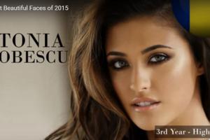世界で最も美しい顔56位Antonia Iacobescu│The 100 Most Beautiful Faces of 2015