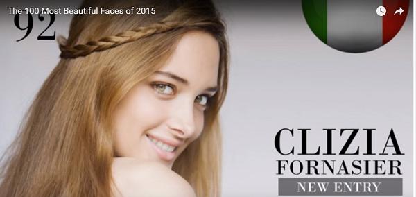 世界で最も美しい顔92位Clizia Fornasier│The 100 Most Beautiful Faces of 2015