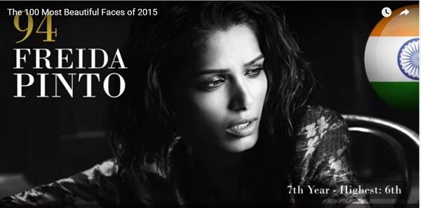世界で最も美しい顔94位フリーダ・ピントー│The 100 Most Beautiful Faces of 2015