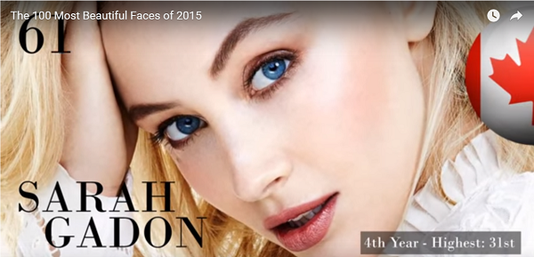 世界で最も美しい顔61位サラ・ガドンsarah gadon│The 100 Most Beautiful Faces of 2015