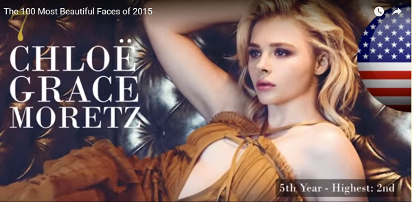 世界で最も美しい顔7位クロエ・モレッツchloe crace moretz│The 100 Most Beautiful Faces of 2015