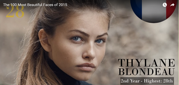 世界で最も美しい顔28位thylane blondeau│The 100 Most Beautiful Faces of 2015