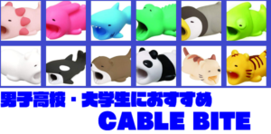 CABLE BITE│高校・大学生男子にオススメランキング│モテる│充電ケーブル